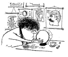 'Whizz for Atoms. A Guide to Survival in the 20th Century for Fellow Pupils, Their Doting Maters, Pompous Paters and Any Other Who Are Interested'. Cartoon from the Estate of Ronald Searle.