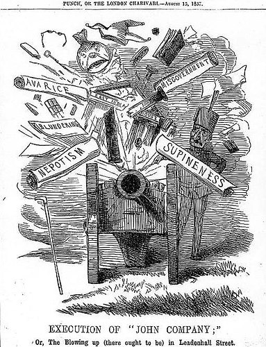 'End of the East India Company', Punch, 15 August 1857.